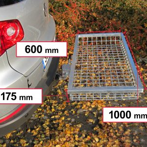 Tow Hitch Cargo Rack - Stainless Steel 1000 x 600 x 175 mm [101460]