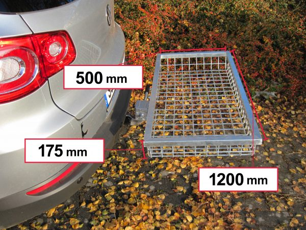 Tow Hitch Cargo Rack - Stainless Steel 1200 x 500 x 175 mm [101458]